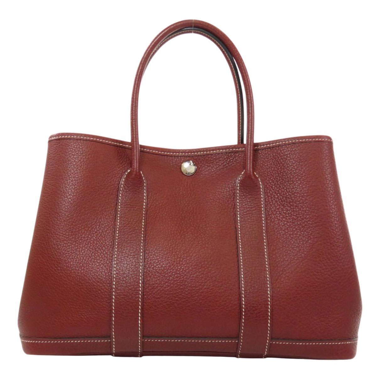 Hermes Garden Party Handtasche in  Rot Leder
