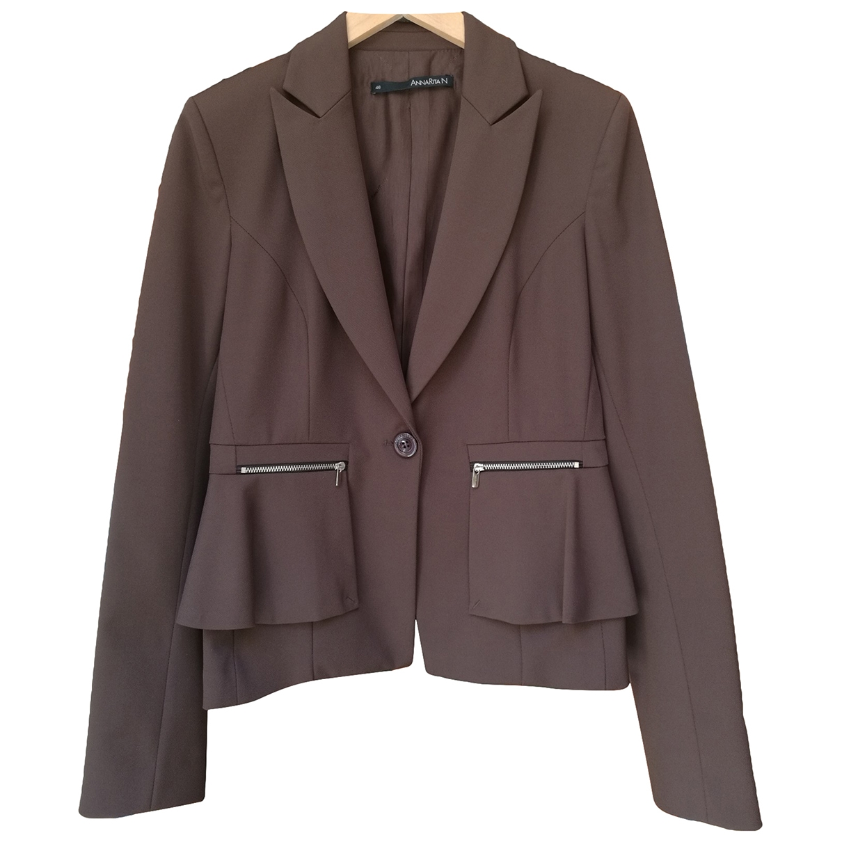 Non Signé / Unsigned \N Brown jacket for Women 46 IT