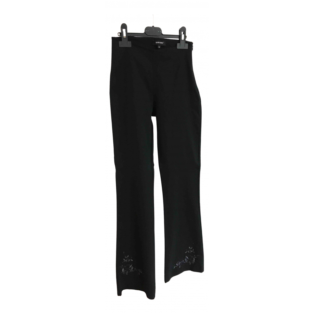 Non Signé / Unsigned N Black Cotton Trousers for Women 40 IT