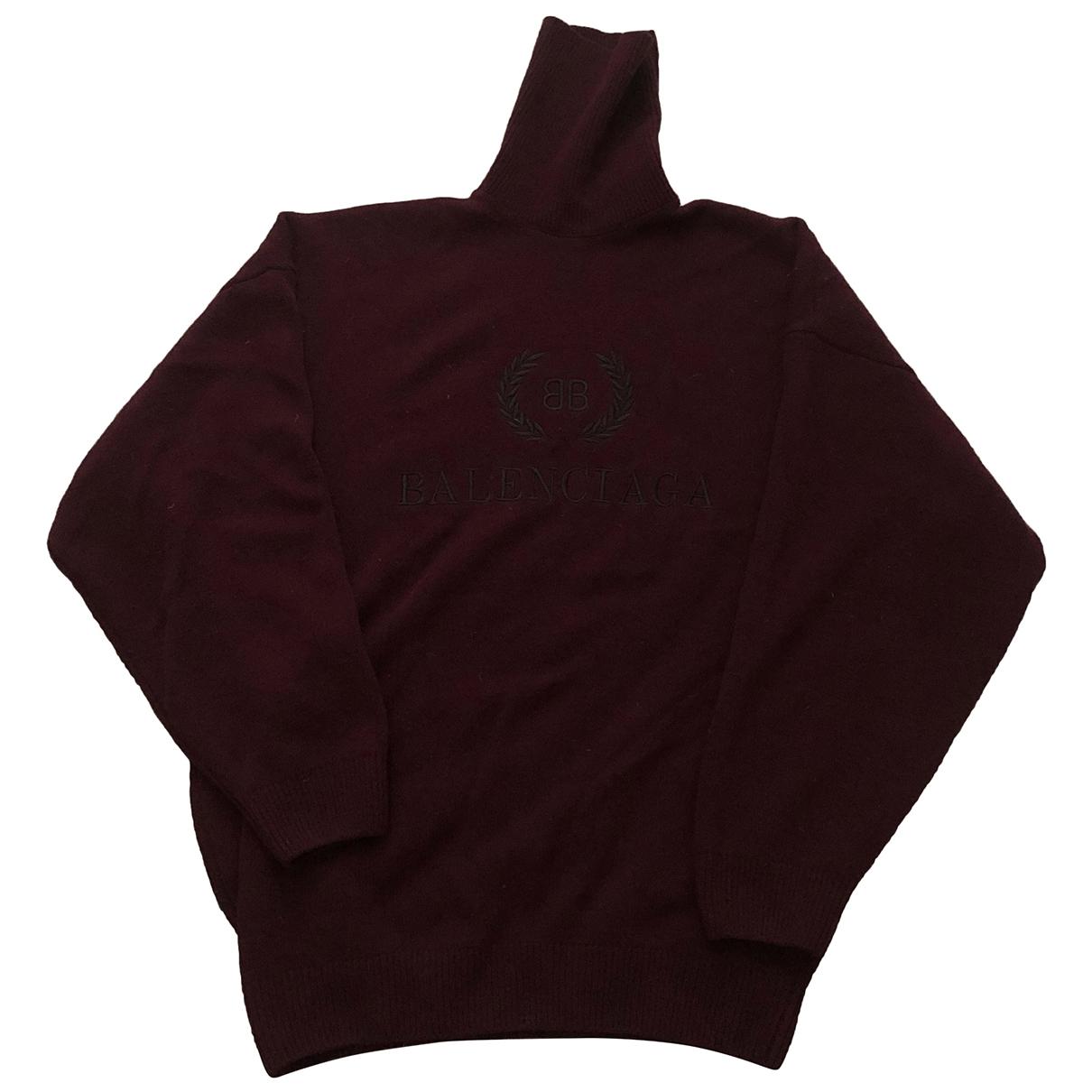 Balenciaga \N Burgundy Wool Knitwear for Women XS International