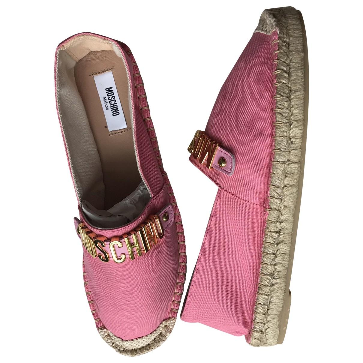 Moschino \N Pink Cloth Espadrilles for Women 39 EU