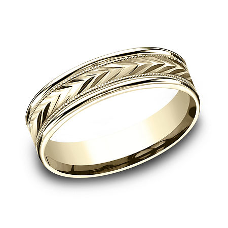 6MM 10K Gold Wedding Band, 10 , No Color Family