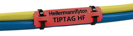 HellermannTyton TIPTAG Mounting clamp Cable Marker, Pre-printed TIPTAG HF Red