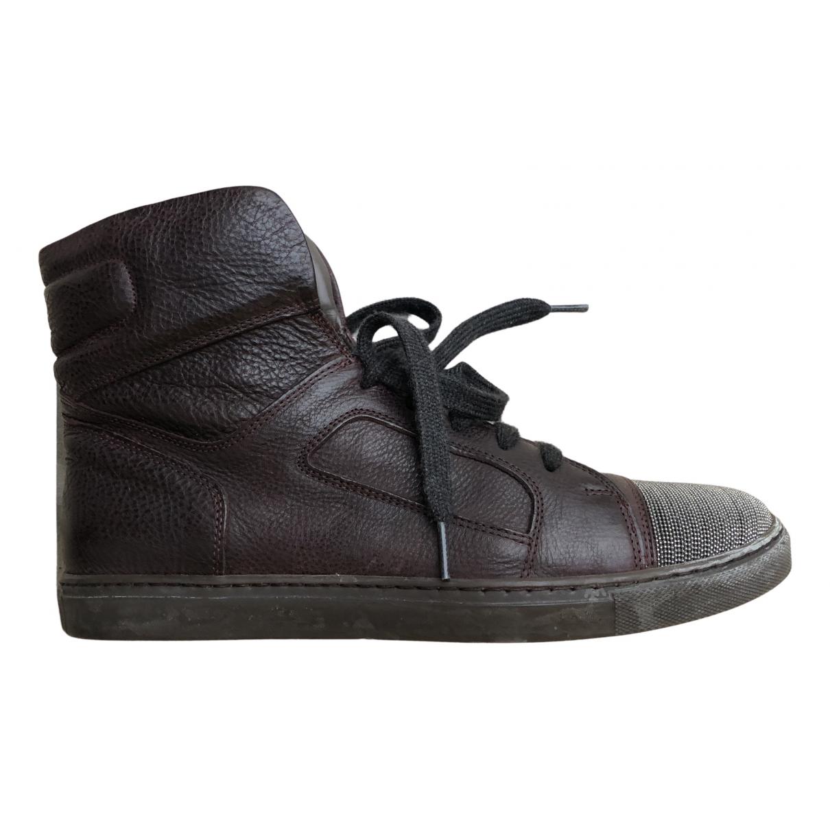 Brunello Cucinelli \N Sneakers in  Braun Leder