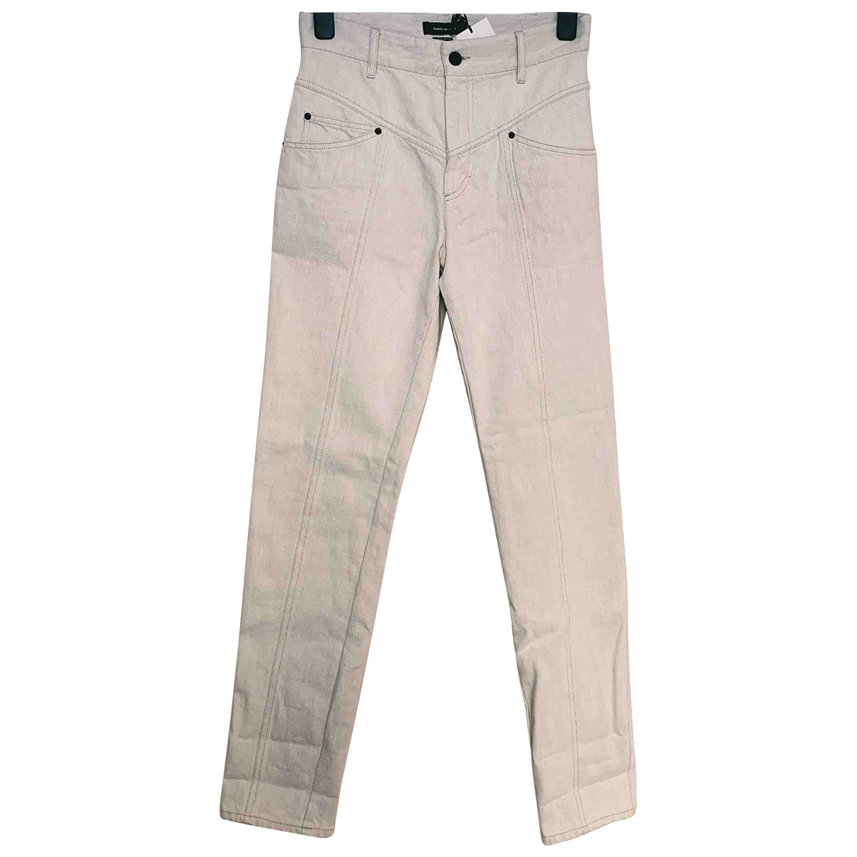 Isabel Marant \N White Denim - Jeans Jeans for Women 38 FR