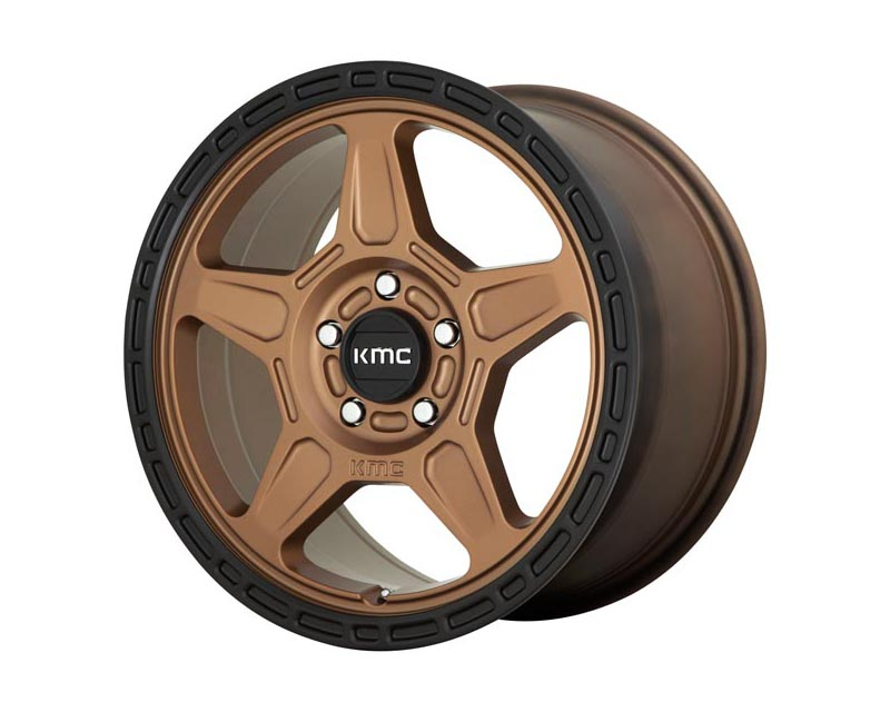 KMC Alpine Wheel 16x7.5 5X110 30mm Matte Bronze w/Black Lip