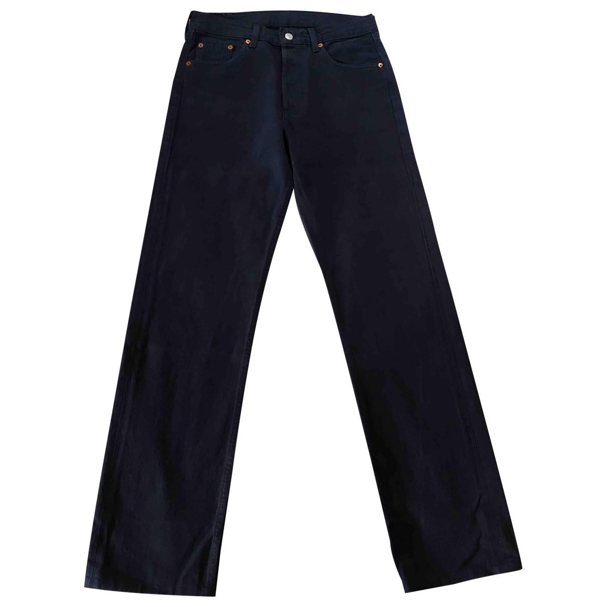 Levi's 501 Navy Cotton Jeans for Women 30 US