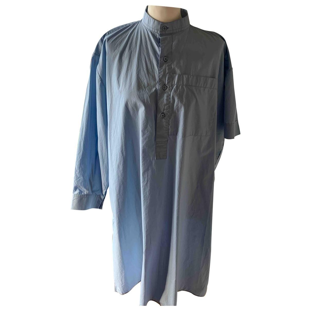 Balenciaga \N Kleid in  Blau Baumwolle