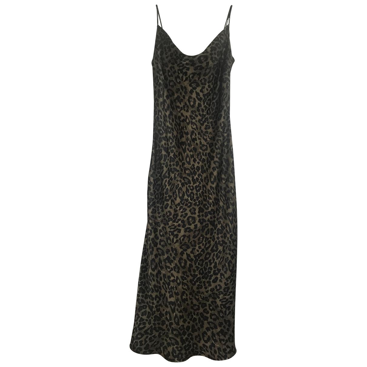 Vestido midi de Seda Zara
