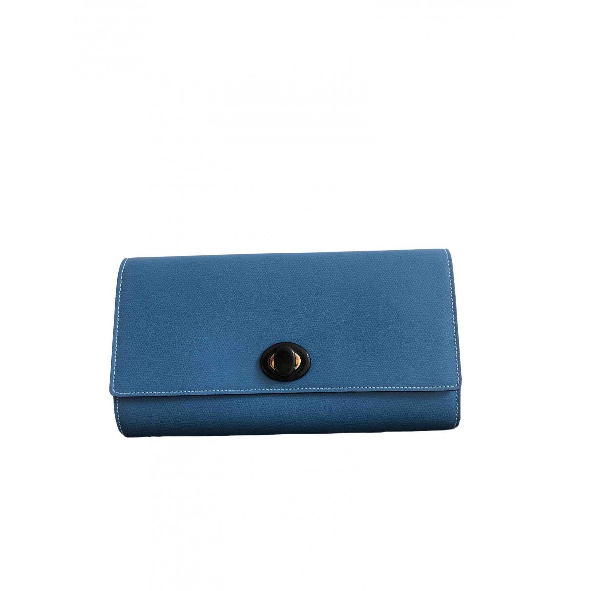 Valextra \N Clutch in  Blau Leder