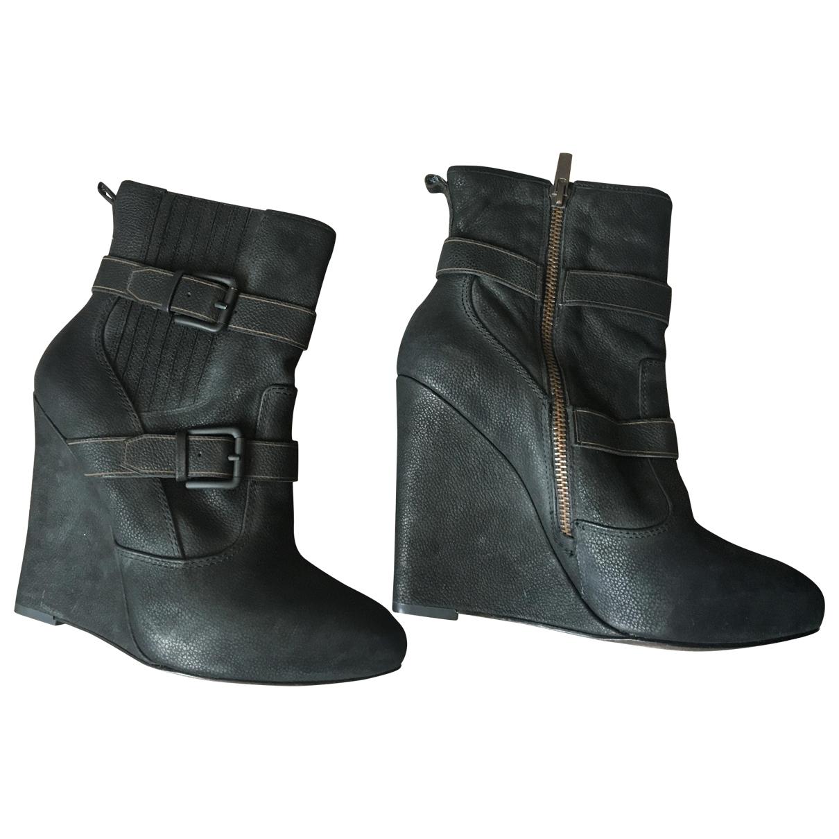 Joie - Boots   pour femme en cuir - marron