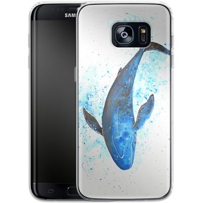Samsung Galaxy S7 Edge Silikon Handyhuelle - Whale Dive von Becky Starsmore