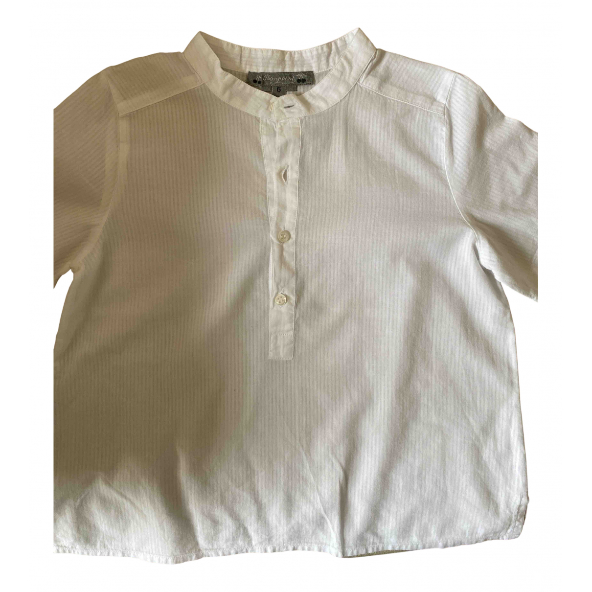 Bonpoint N White Cotton  top for Kids 6 years - up to 114cm FR