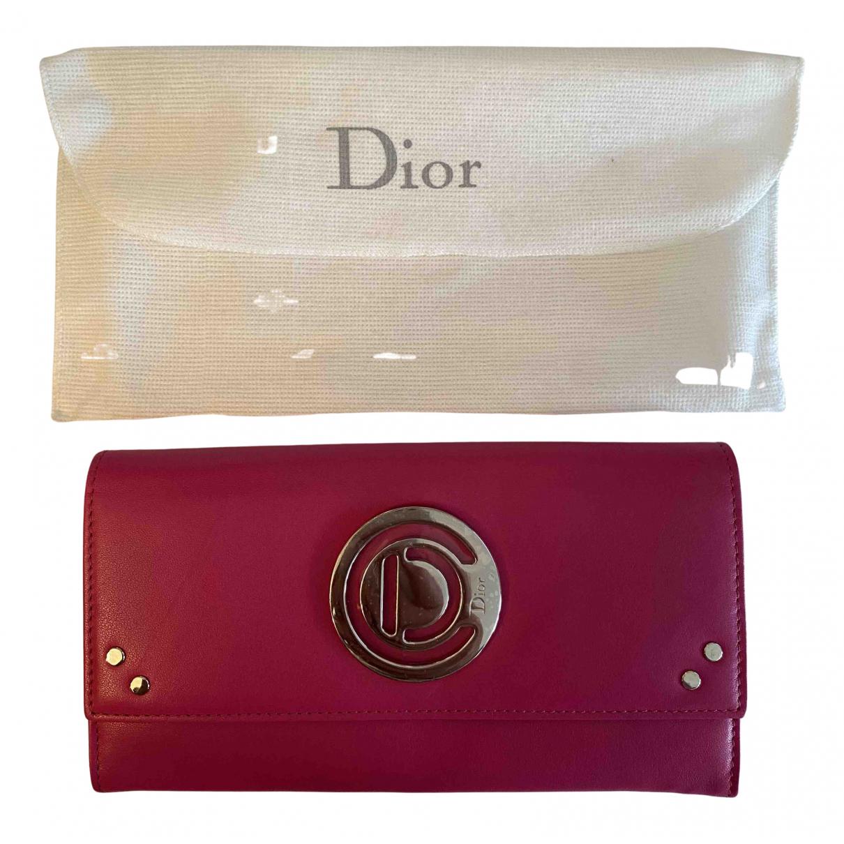 Dior - Portefeuille   pour femme en cuir verni - rose