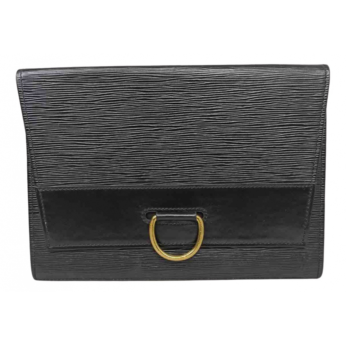 Louis Vuitton \N Clutch in  Schwarz Leder