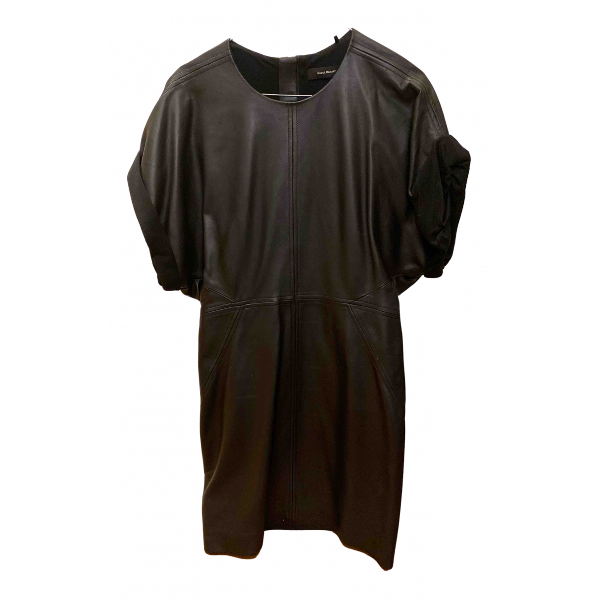 Isabel Marant N Black Leather dress for Women 38 FR