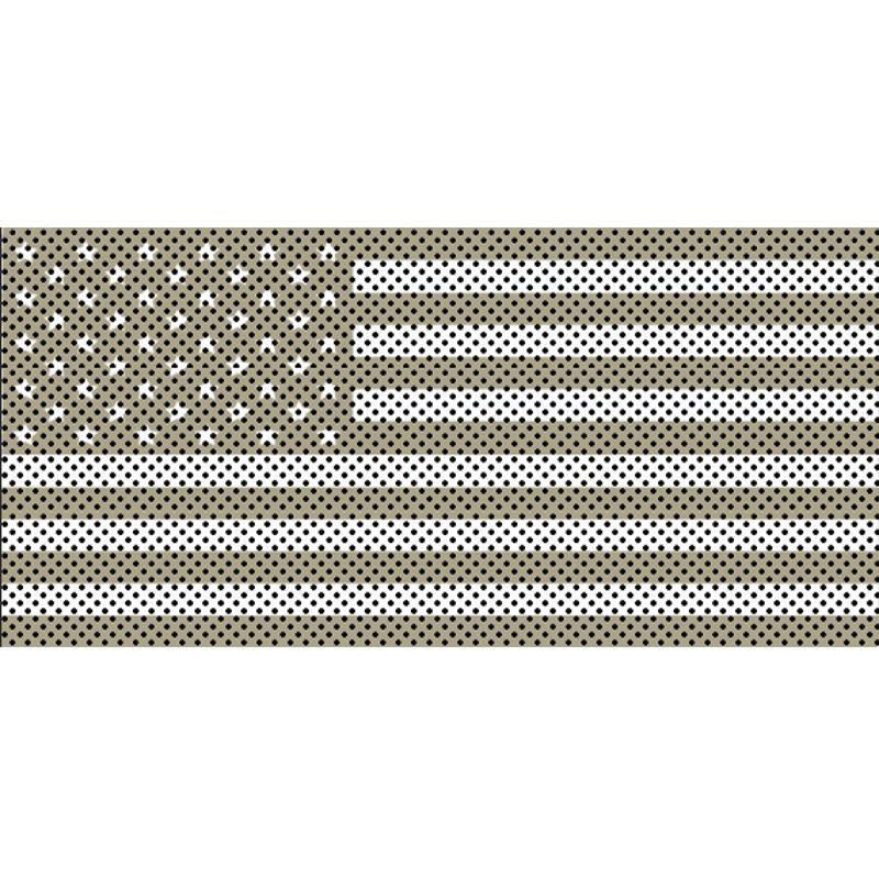 Jeep Gladiator Grill Inserts 2020-Present Gladiator Desert Tan Old Glory White Stars And Stripes Under The Sun Inserts INSRT-DSTWHT-JT