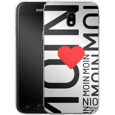 Samsung Galaxy J3 (2017) Silikon Handyhuelle - Moin Moin von caseable Designs