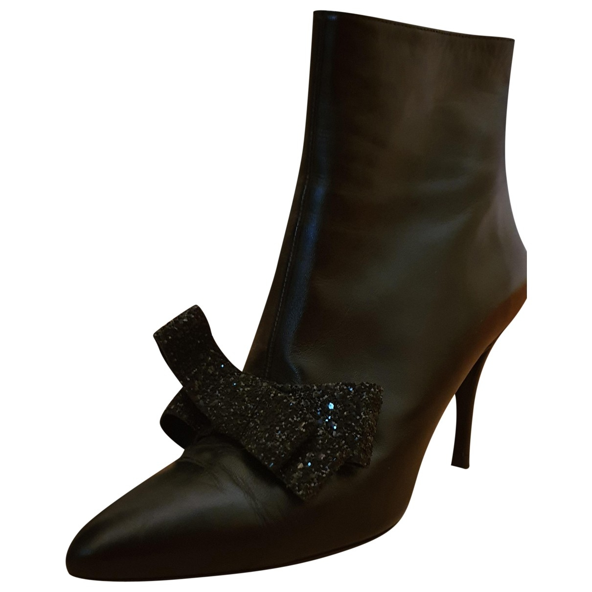 Manoush \N Black Leather Ankle boots for Women 41 EU
