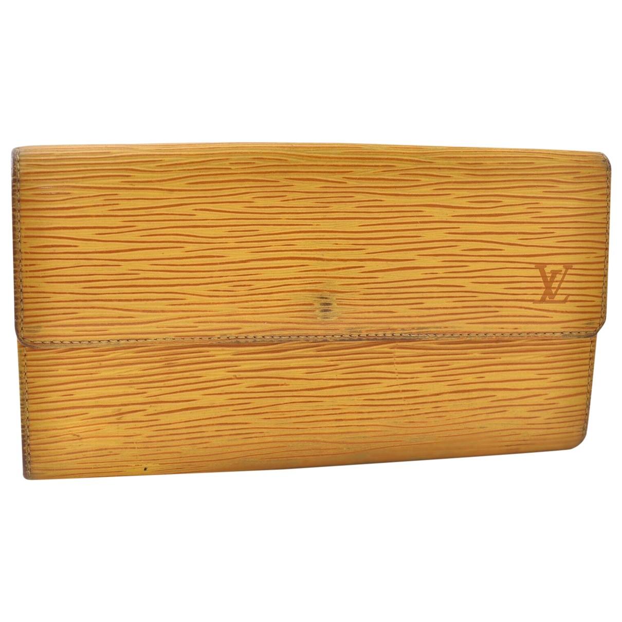 Louis Vuitton - Portefeuille   pour femme en cuir - jaune