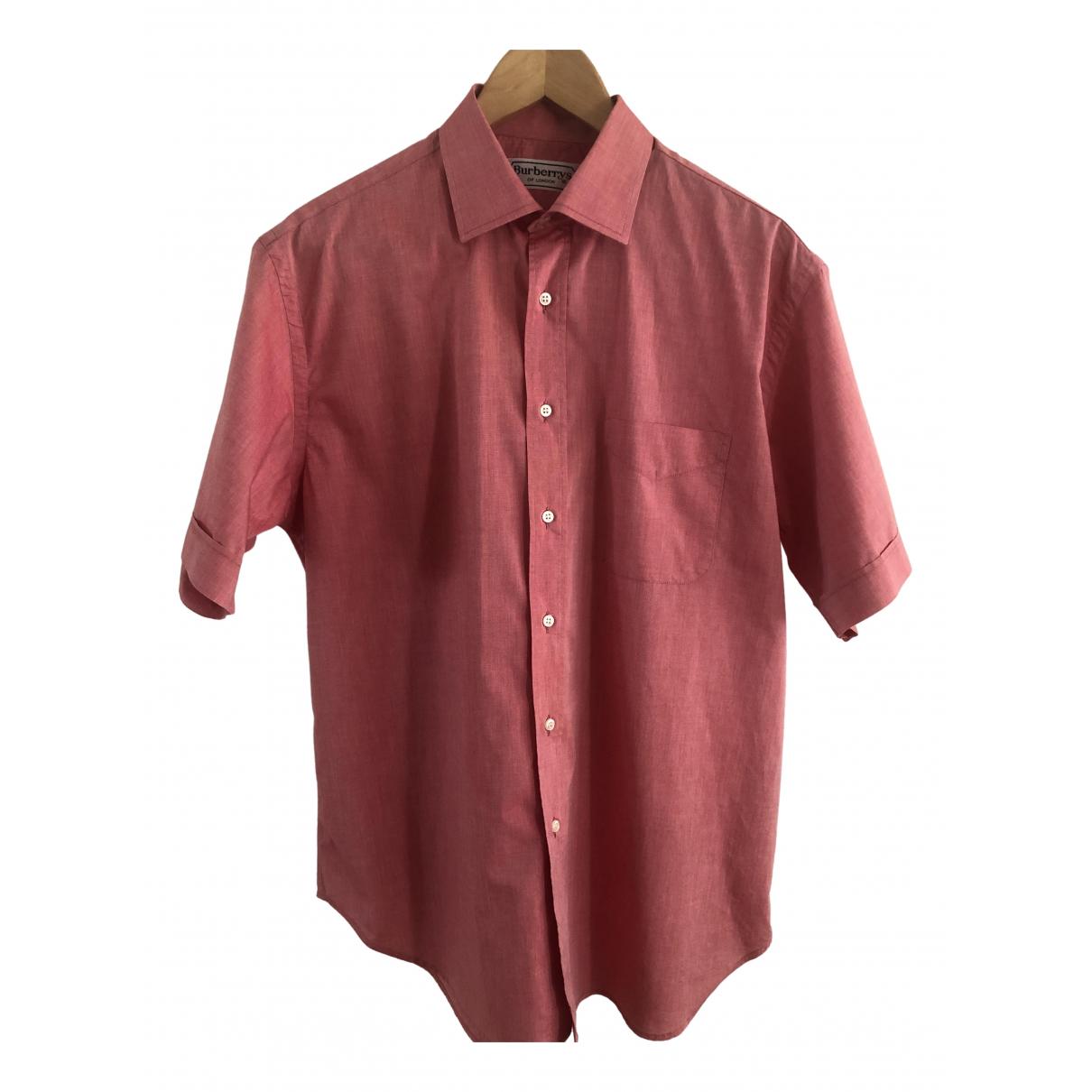 Burberry \N Cotton Shirts for Men 16 UK - US (tour de cou / collar)