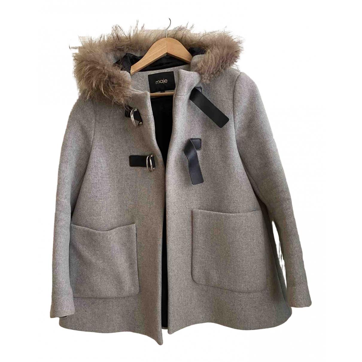 Maje - Manteau   pour femme en cachemire - gris