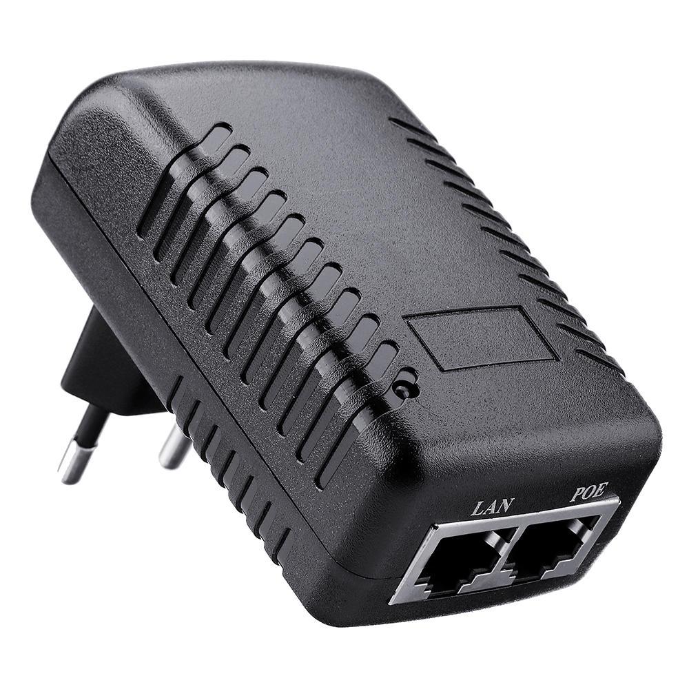 EU Plug Ethernet POE Injector DC12V 1A 12W Wall Plug POE Switch Power Adapter