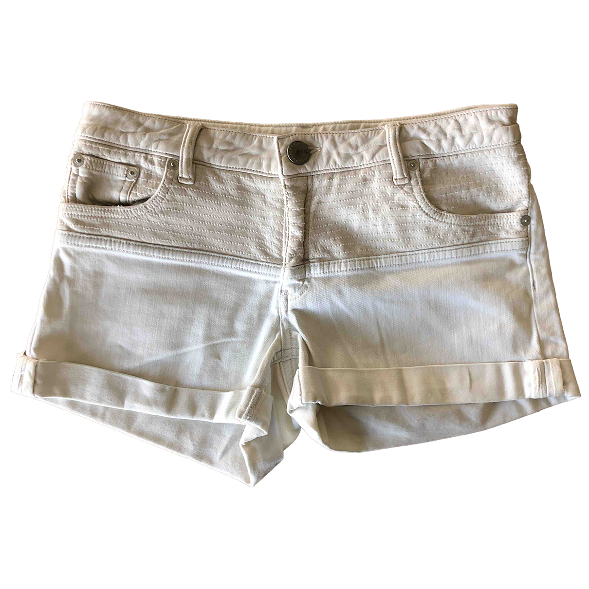 Maje \N White Denim - Jeans Shorts for Women 38 FR