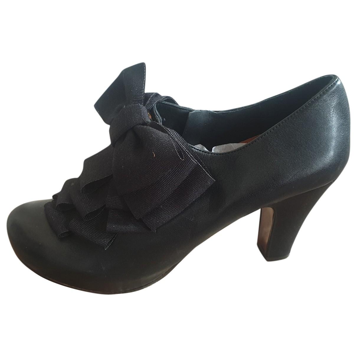 Chie Mihara \N Black Leather Heels for Women 42 EU