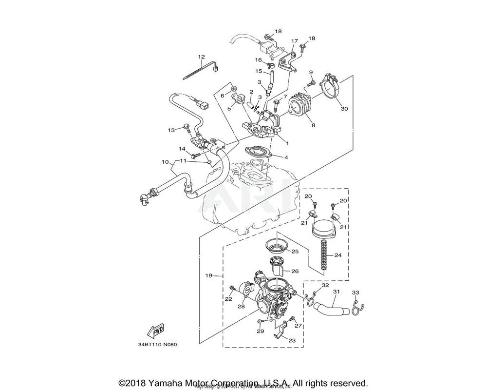 Yamaha OEM 5CA-14216-00-00 SCREW