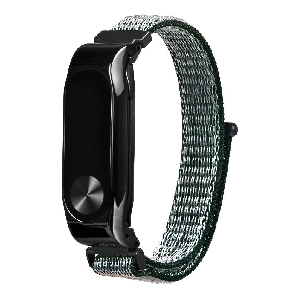 Replacement Wrist Strap Wearable Nylon Wristband For Xiaomi Mi Band 2 Smart Bracelet - Green
