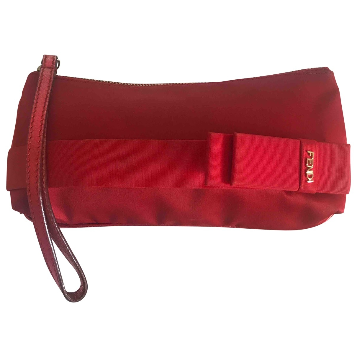 Fendi \N Red Silk Clutch bag for Women \N