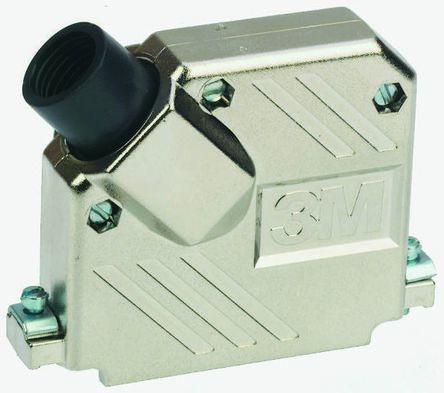 3M ABS Angled D-sub Connector Backshell, 37 Way