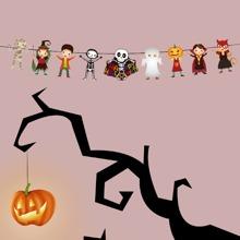 1 Stueck Zugfahne mit Halloween Muster