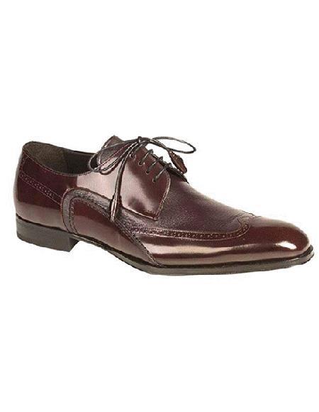Mezlan Brand Burgundy Four Eyelet Lacing Cushionde Insole Shoe
