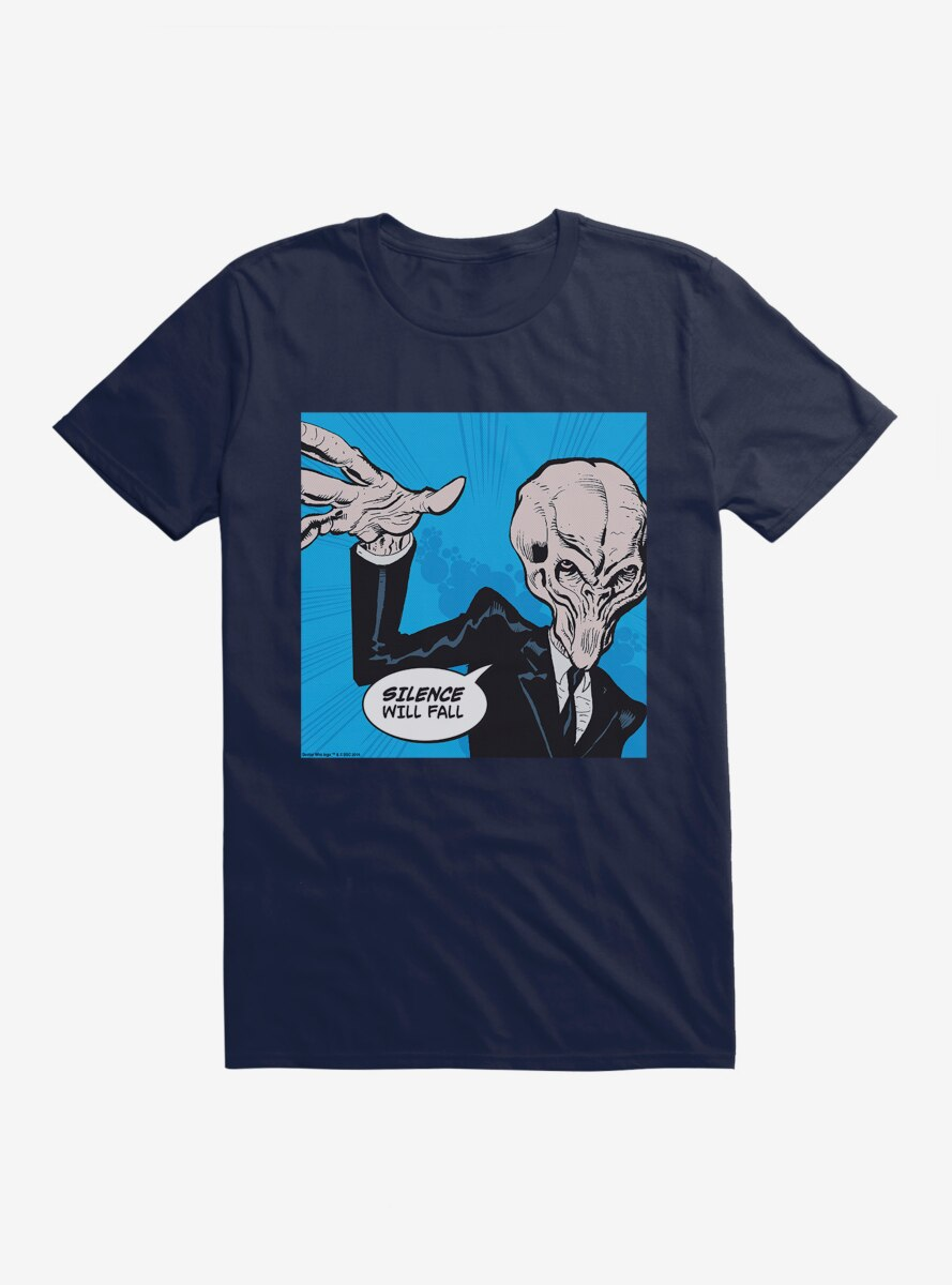 Doctor Who Silence Will Fall Pop Art T-Shirt
