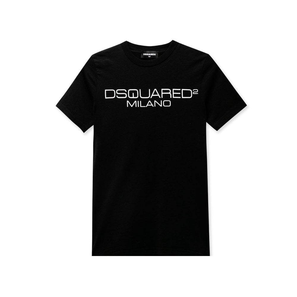 Dsquared2 Milano T-shirt Colour: BLACK, Size: 10 YEARS