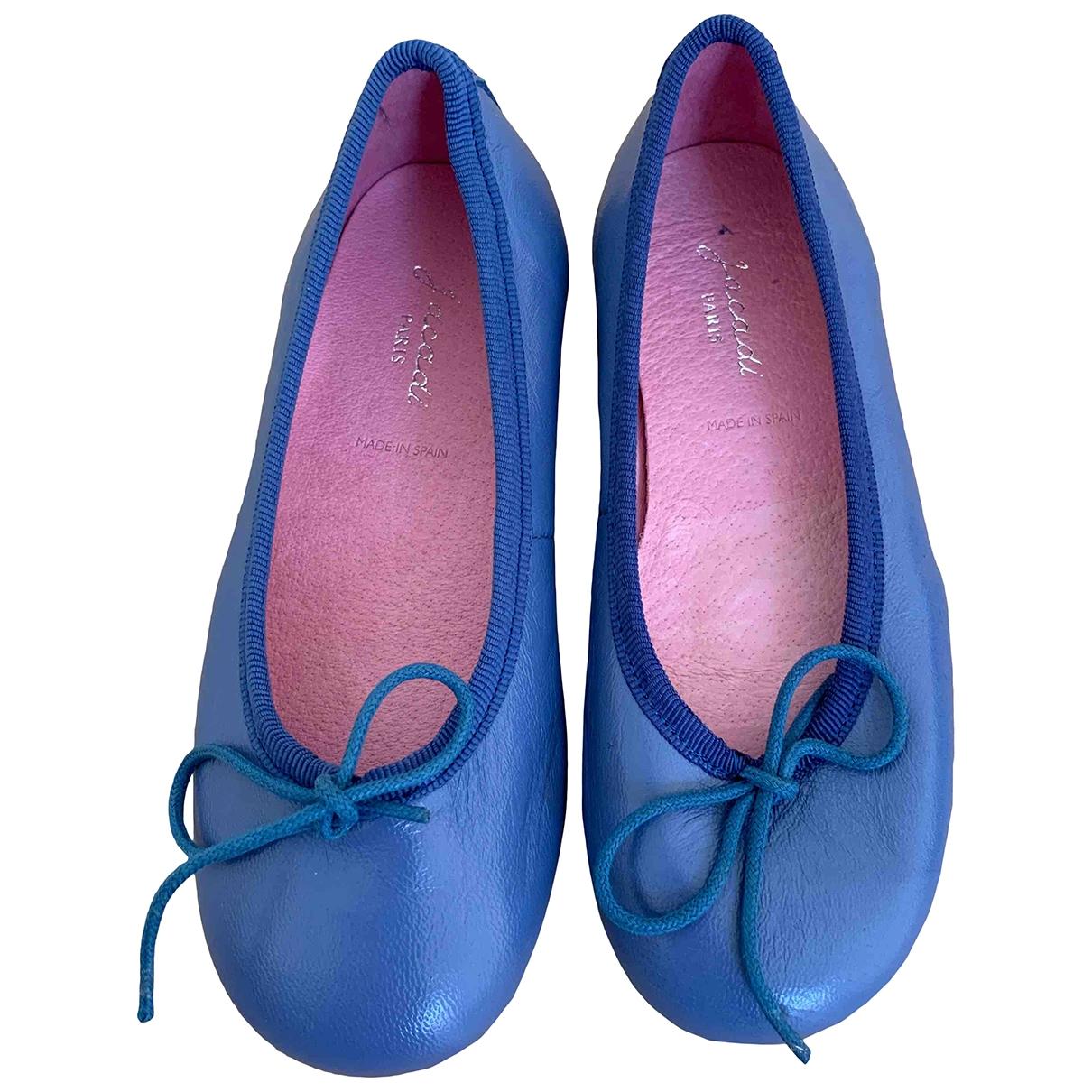 Jacadi \N Ballerinas in  Blau Leder