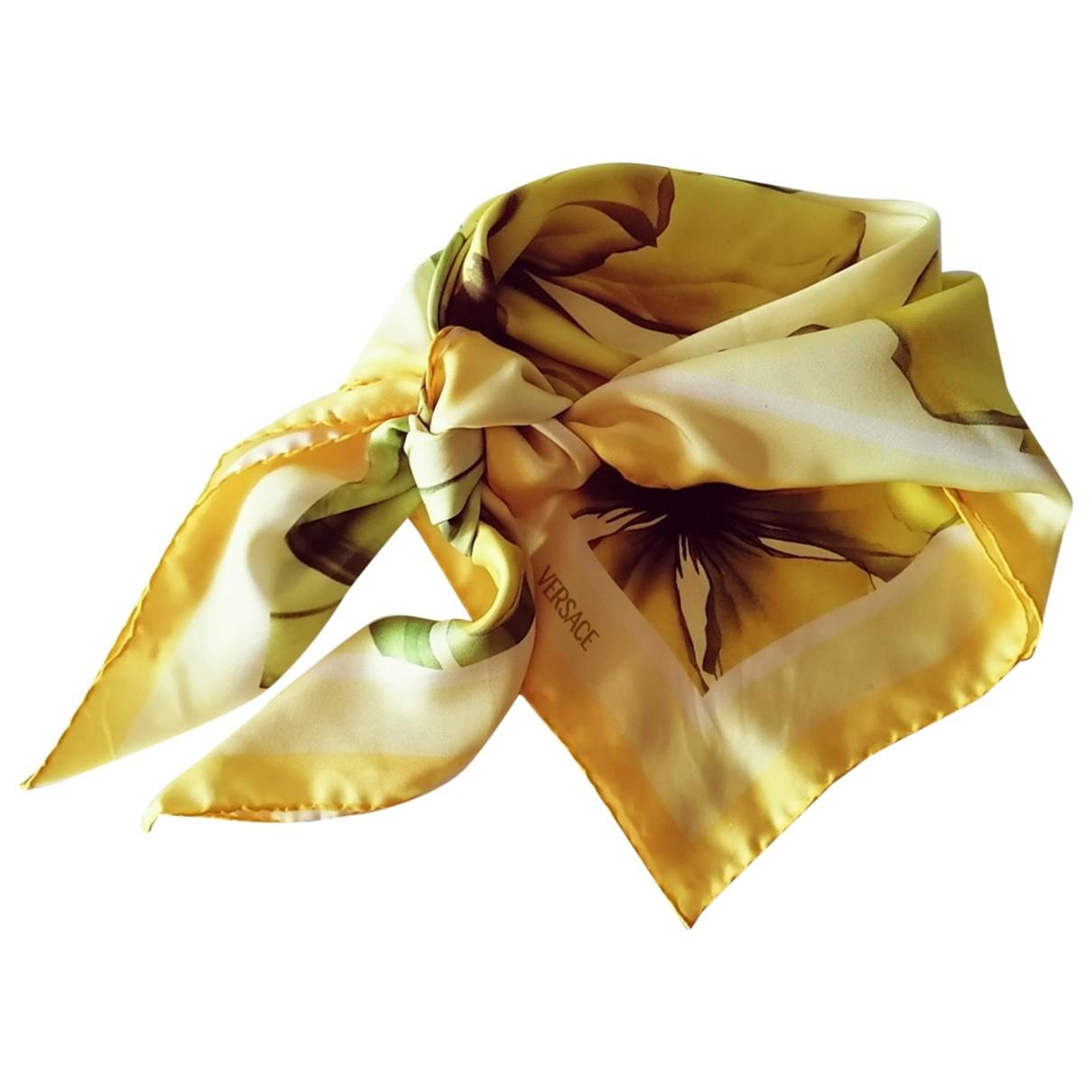 Versace \N Tuecher in  Gelb Seide
