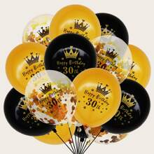 15pcs Birthday Decorative Balloon Set