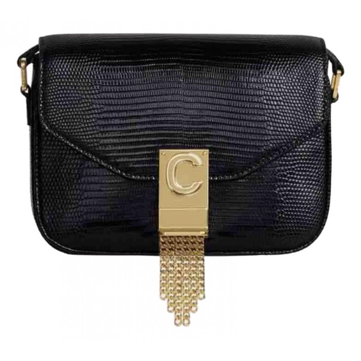 Celine C bag Handtasche in  Schwarz Echse