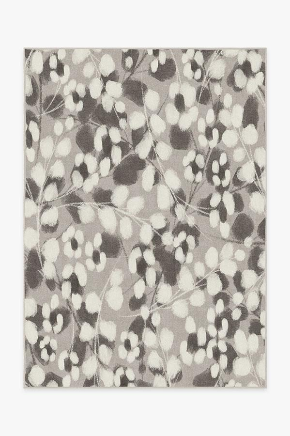 Washable Rug Cover & Pad | Rosette Grey Rug | Stain-Resistant | Ruggable | 5x7