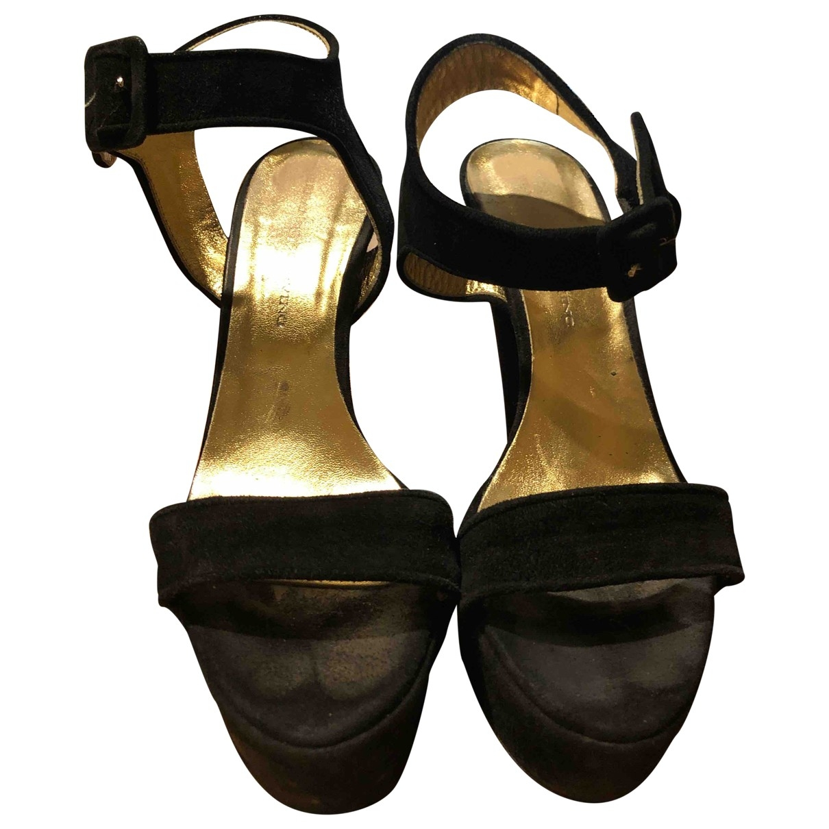 Ermanno Scervino \N Black Suede Heels for Women 39 EU