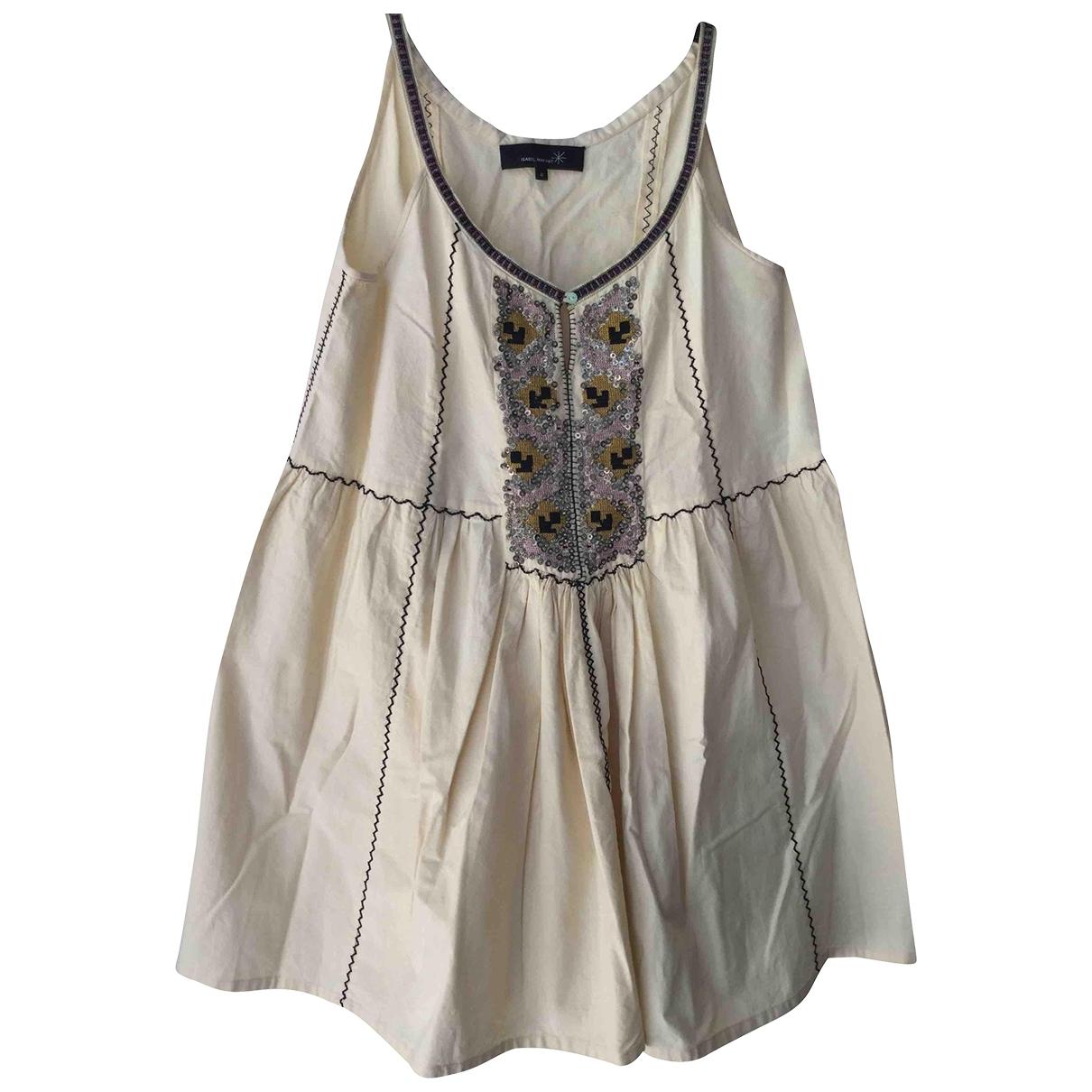 Isabel Marant \N Kleid in  Ecru Baumwolle