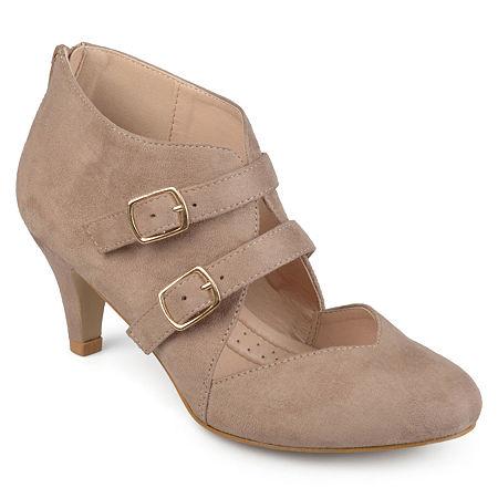 Journee Collection Womens Ohara Pumps Stiletto Heel, 7 1/2 Medium, Beige