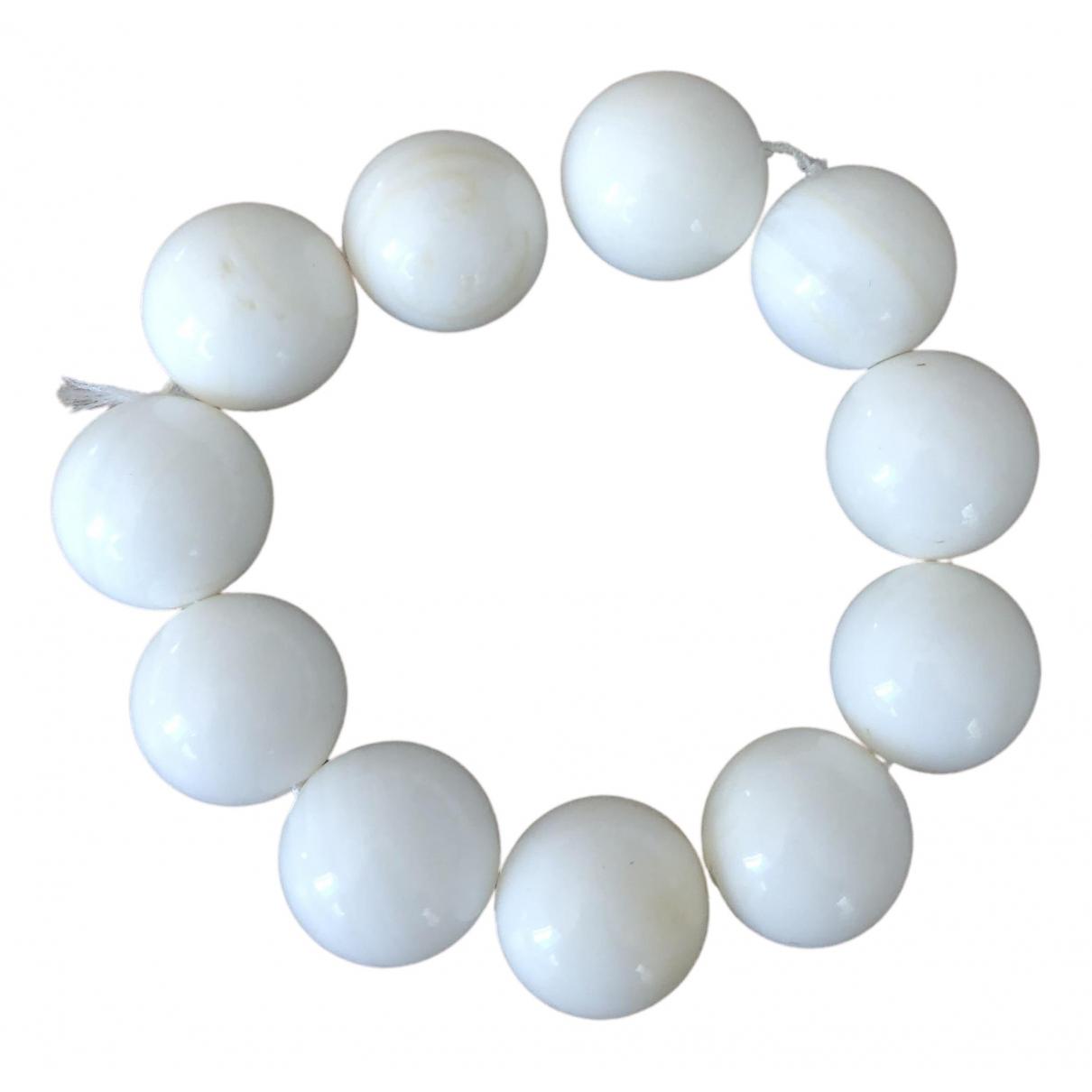 - Bracelet Onyx pour femme en perles - blanc