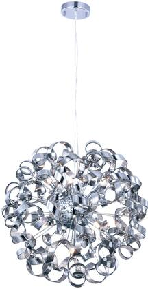 2104D24SS 2104 Ritz Collection Pendant Ceiling Light D:24In H:24In Lt:9 Chrome