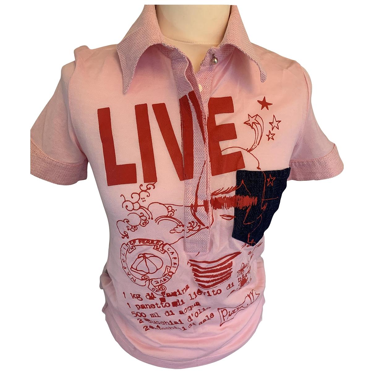 Gianfranco Ferre - Top   pour femme en coton - rose