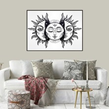Sun Print Wall Painting Without Frame