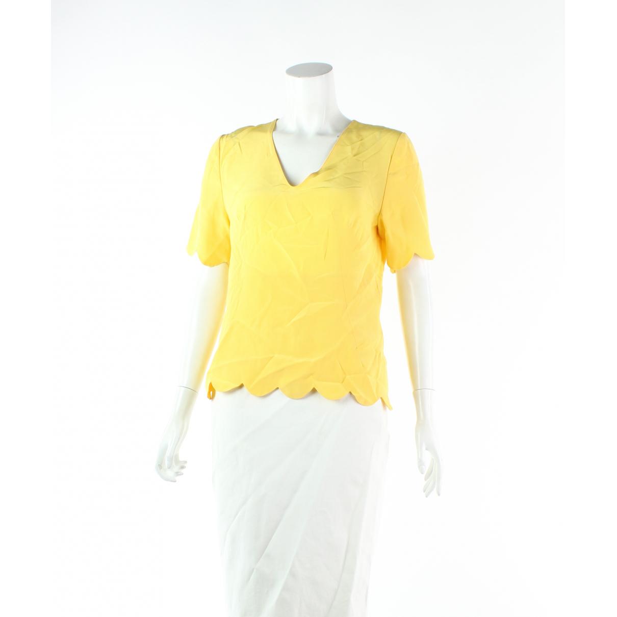 Marni - Top   pour femme en soie - jaune